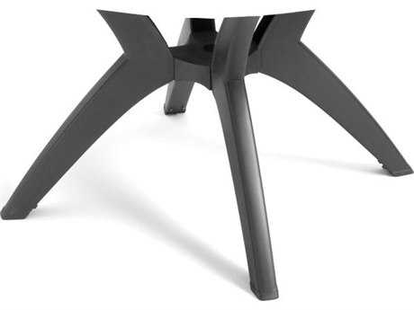 Grosfillex Y-Leg Resin Charcoal Pedestal Table Base