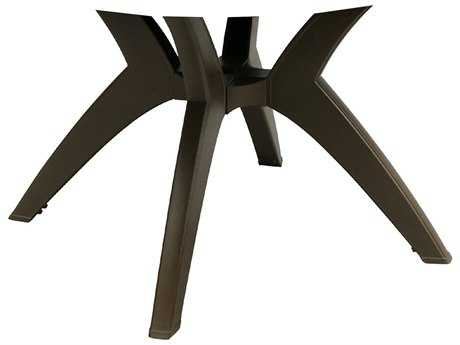 Grosfillex Y-Leg Resin Bronze Mist Pedestal Table Base