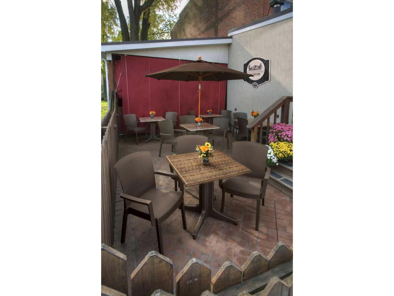 grosfillex havana wicker dining arm chair sold in 4 gxus903037