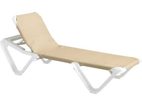 Grosfillex Nautical Sling Adjustable Chaise (Sold in 2)