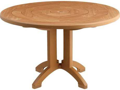 Grosfillex Aquaba Classic Resin 48 Round Pedestal Table