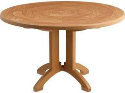Wood Aquaba 48 Round Pedestal Table