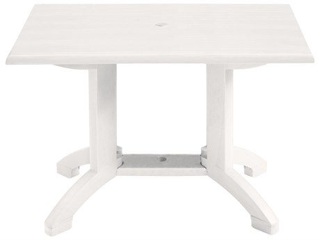 Grosfillex Atlanta Resin 48 x 32 Rectangular Dining Table