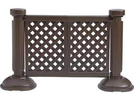 Grosfillex Classic Resin Brown Fence Post & Interlocking Base