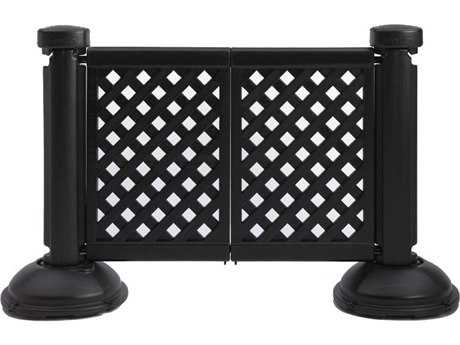 Grosfillex Classic Resin Black 2-Panel Section of Portable Fencing