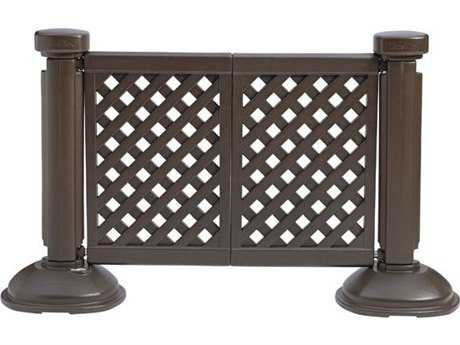 Grosfillex Classic Resin Brown 2-Panel Section of Portable Fencing
