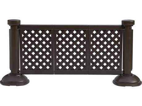 Grosfillex Classic Resin Black 3-Panel Section of Portable Fencing PatioLiving