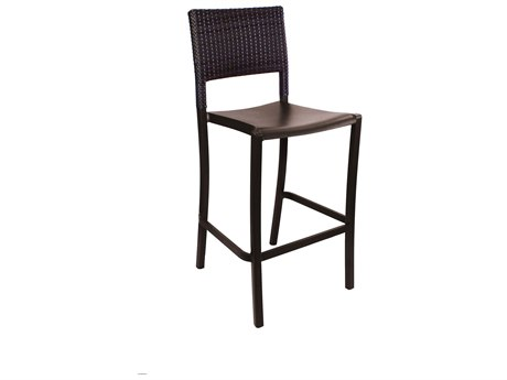 Grosfillex Java Resin Wicker Armless Barstool (Sold in 2)