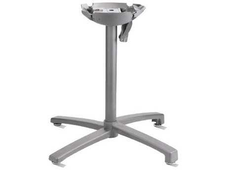 Grosfillex X1 Aluminum Silver Gray Tilt Small Table Base