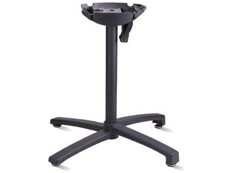 Grosfillex X1 Aluminum Black Tilt Small Table Base