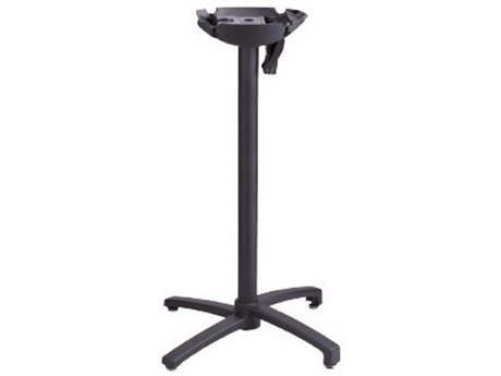 Grosfillex X1 Aluminum Black Tilting Bar Height Table Base