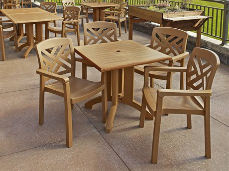 rosfillex Winston Wood Resin Dining Set