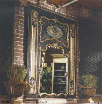 Habersham Oxfordshire 55 x 74 Trumeau Wall Mirror