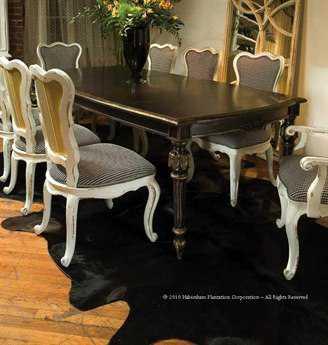 Habersham Jocelyn 80 x 46 Rectangular Expandable Dining Table