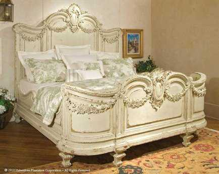 Habersham Florentina King Panel Bed with Garland