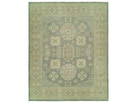 Harounian Rugs Anatolian Rectangular Light Blue & Ivory Area Rug