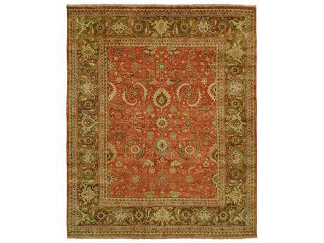 Harounian Rugs Mahal Rectangular Rust & Brown Area Rug