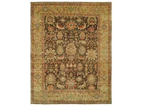 Harounian Rugs Mahal Rectangular Brown & Gold Area Rug