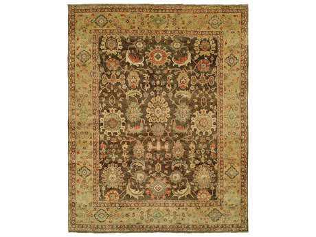 Harounian Rugs Mahal Rectangular Brown & Gold Area Rug