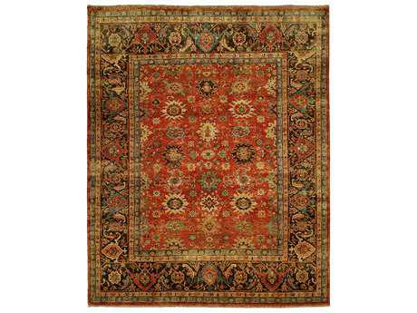 Harounian Rugs Mahal Rectangular Red & Charcoal Area Rug