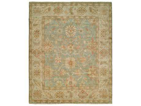 Harounian Rugs Peshawar Rectangular Light Blue & Ivory Area Rug