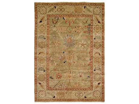 Harounian Rugs Peshawar Rectangular Light Green & Ivory Area Rug