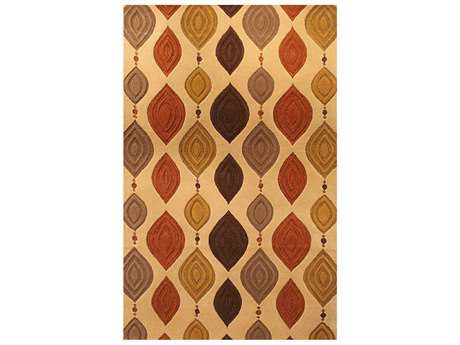 Harounian Rugs Artisan Lovebirds Rectangular Beige Area Rug