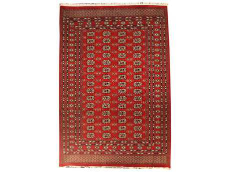 Harounian Rugs Bokhara Rectangular Red Area Rug