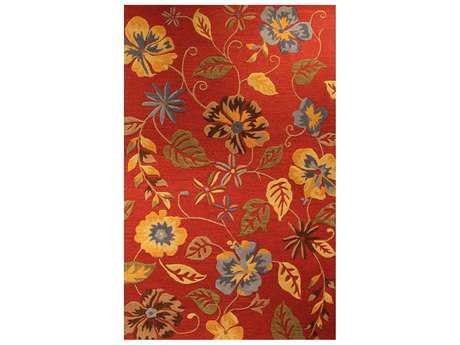Harounian Rugs Fresco Rectangular Red Area Rug