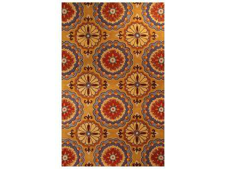 Harounian Rugs New Vision Rectangular Light Gold Area Rug