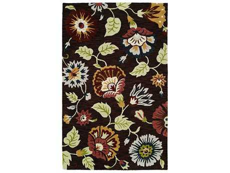 Harounian Rugs Artisan Rectangular Brown Area Rug