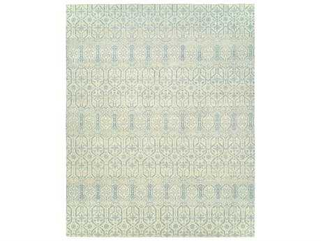 Harounian Rugs Vogue Rectangular Ivory & Blue Area Rug