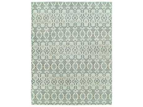 Harounian Rugs Vogue Rectangular Soft Blue & Ivory Area Rug