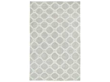 Harounian Rugs Willow Rectangular Light Blue & Ivory Area Rug