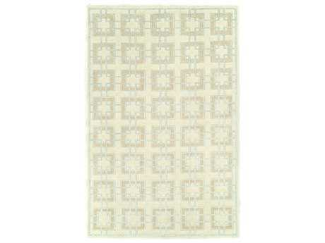Harounian Rugs Willow Rectangular Green & Beige Area Rug
