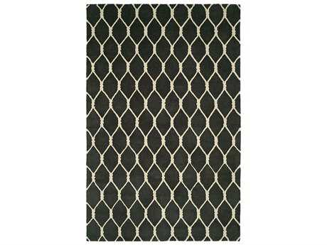 Harounian Rugs Dimension Rectangular Charcoal & Ivory Area Rug