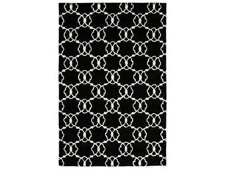 Harounian Rugs Dimension Rectangular Black & Ivory Area Rug