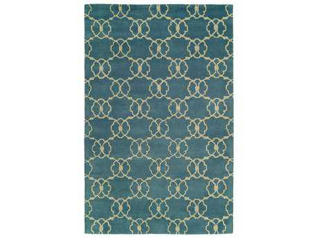 Harounian Rugs Dimension Rectangular Blue & Ivory Area Rug