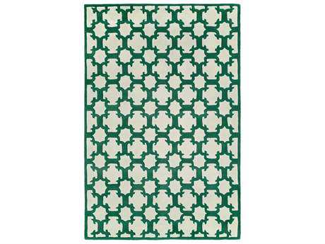 Harounian Rugs Dimension Rectangular Ivory & Green Area Rug