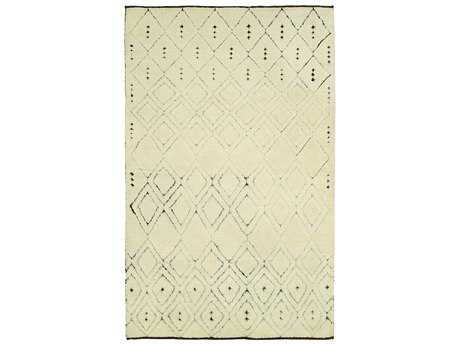 Harounian Rugs Oasis Rectangular Ivory & Brown Area Rug