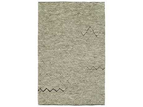 Harounian Rugs Oasis Rectangular Grey & Brown Area Rug