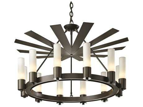 Hubbardton Forge Piccadilly 34.5'' Wide 12-Light Incandescent Chandelier