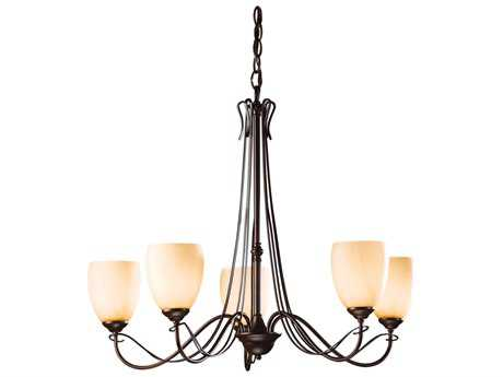 Hubbardton Forge Trellis 28.1'' Wide Five-Light Incandescent Chandelier
