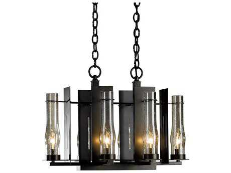Hubbardton Forge New Town 14'' Wide Six-Light Incandescent Mini-Chandelier