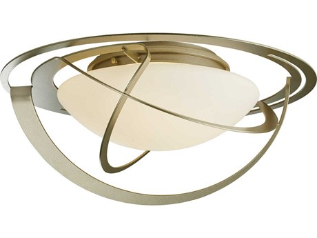 Hubbardton Forge Equinox Two-Light 21'' Wide Flush Mount Light