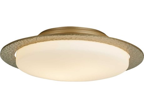 Hubbardton Forge Oceanus Two-Light 17'' Wide Semi-Flush Mount Light