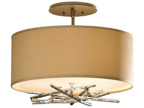 Hubbardton Forge Brindille Three-Light Incandescent Semi-Flush Mount Light