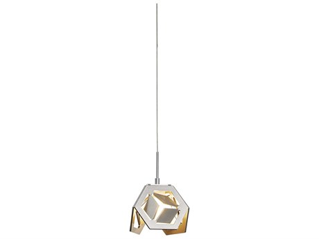 Hubbardton Forge Winter 4'' Wide Mini Pendant Light with Single Cable Canopy Style