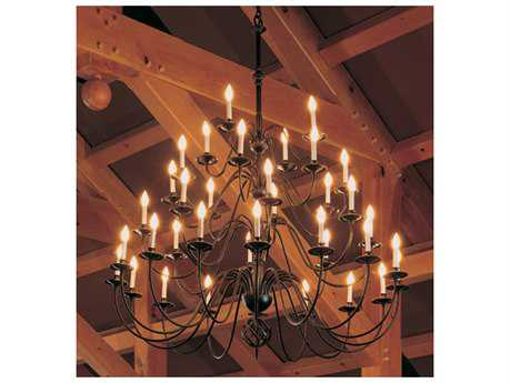 Hubbardton Forge Ball Basket 42'' Wide 21-Light Incandescent Grand Chandelier