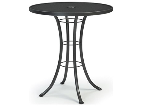 Homecrest Mesh Aluminum 36 Round Bar Table with Umbrella Hole